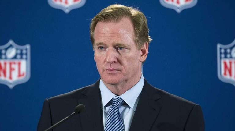 In this Oct. 8, 2014, photo, NFL commissioner