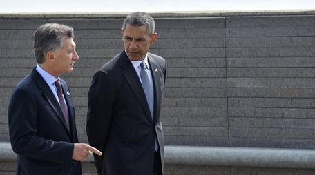 President Barack Obama and Argentinian President Mauricio