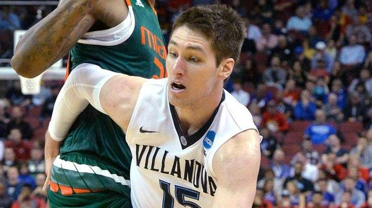 Villanova guard Ryan Arcidiacono drives around Miami