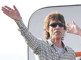 From left, the Rolling Stones band members Mick