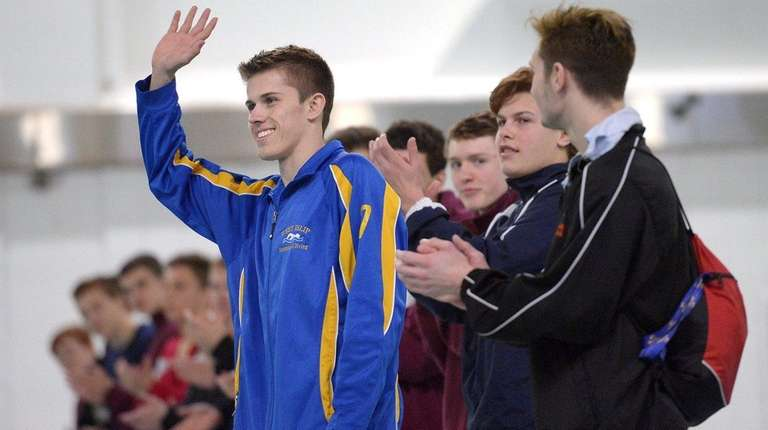 West Islip's Patrick Carter is introduced before the