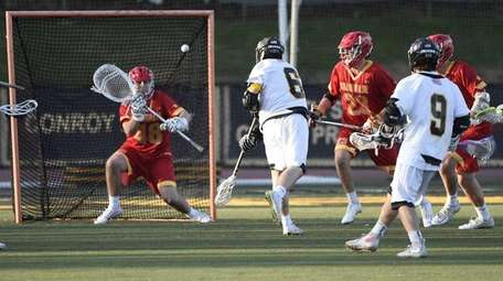 St. Anthony's midfielder Jared Nugent shoots on Chaminade