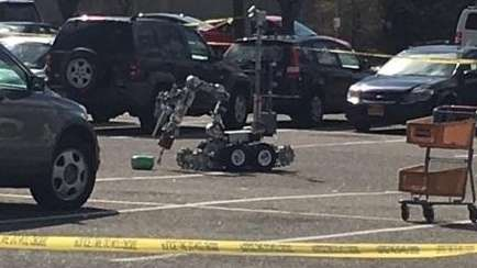 Suffolk County police used a robot to inspect