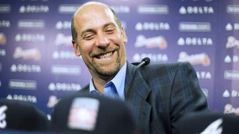 Former Atlanta Braves pitcher John Smoltz smiles