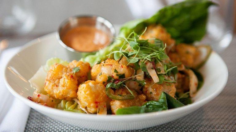 Crispy rock shrimp is one of the starters
