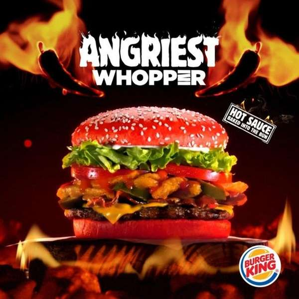 Burger King's Angriest Whopper, available for a limited