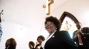 The Bethel A.M.E. choir sings during a Sunday