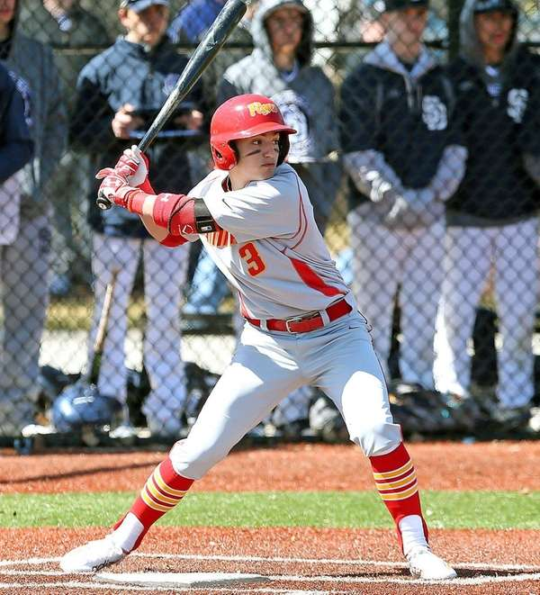 Chaminade's Anthony Greco sets to hit during