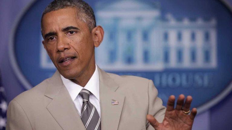 President Barack Obama at the White House press