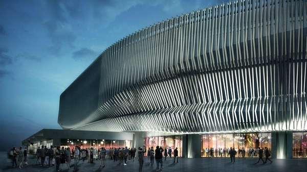 A rendering of the renovated Nassau Coliseum.