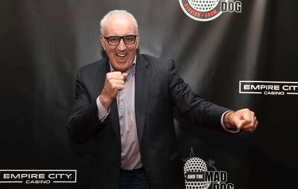 Retired American professional heavyweight boxer Gerry Cooney walks