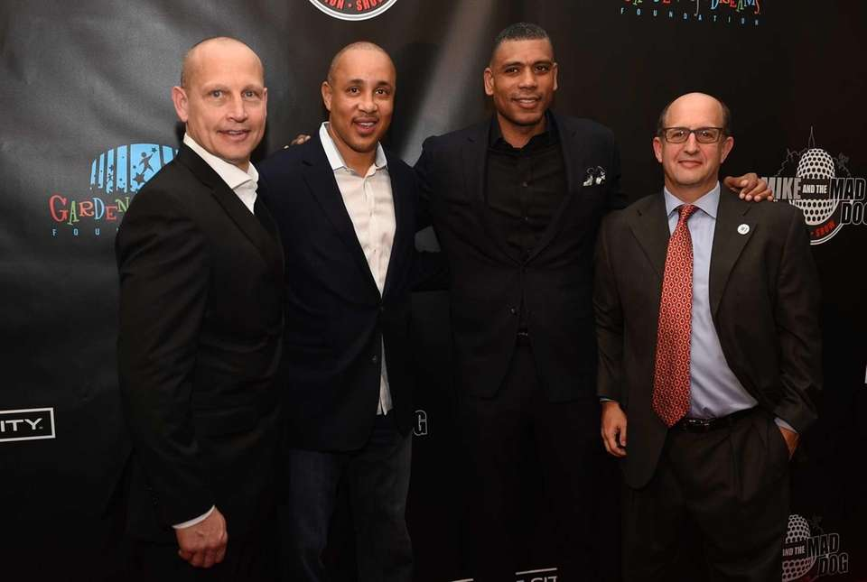 From left: Former New York Rangers Adam Graves,