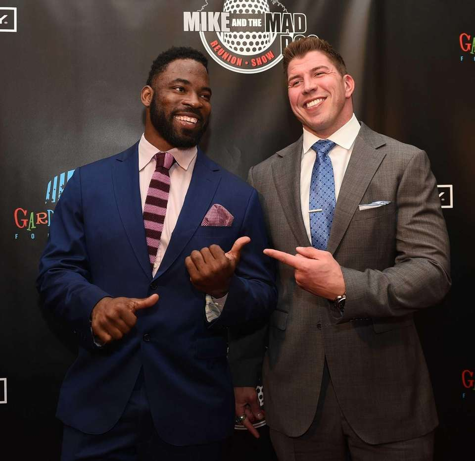 Former New York Giants players Justin Tuck and