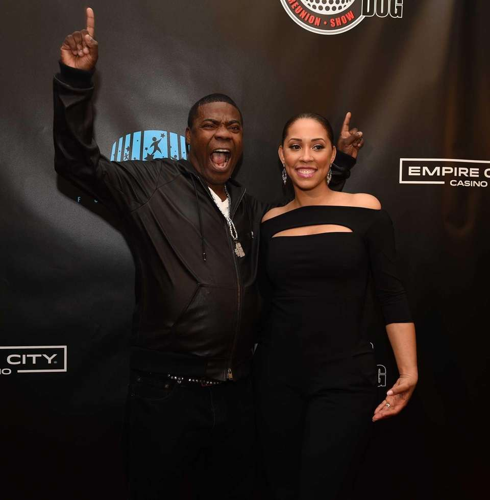 Comedian Tracy Morgan and his wife Megan Wollover