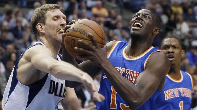 New York Knicks guard Jerian Grant (13) drives