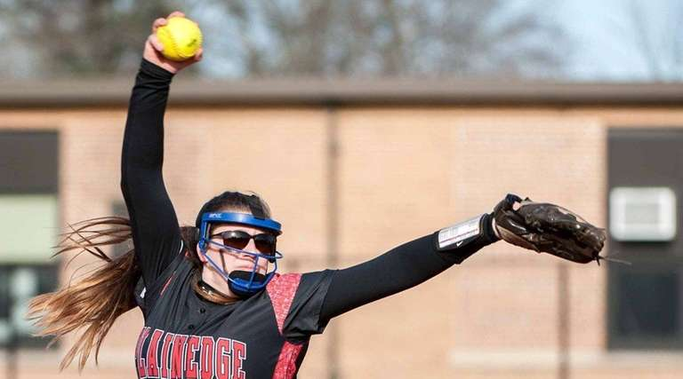 Plainedge's Victoria Nowak allowed five hits in her