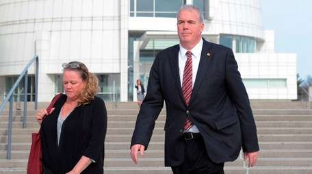 Edward Walsh leaves federal court in Central Islip