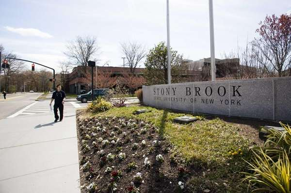 The entrance to the campus of Stony Brook