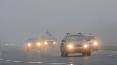 Drivers find foggy conditons along Sills Road in