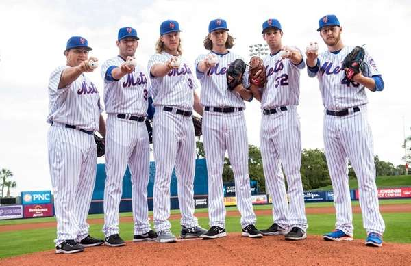 The Mets' starting pitchers, from left: Bartolo