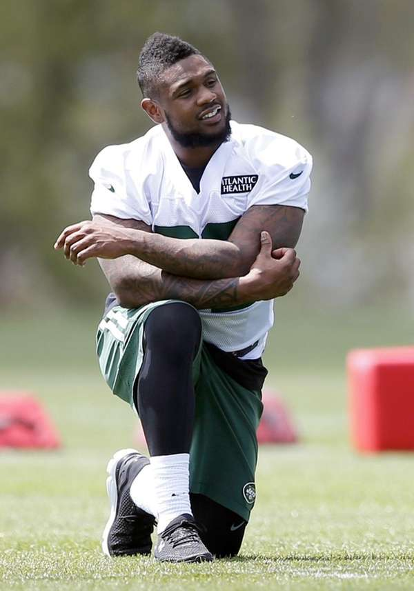 New York Jets running back Stevan Ridley attends