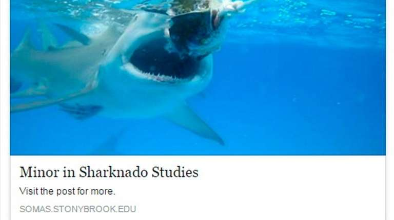 Despite its official-looking webpage, the sharknado studies program