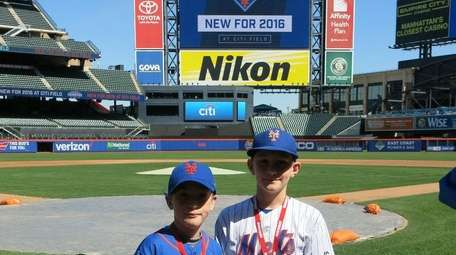 Kidsday reporters Ryan Belcher, left, and Owen Shortell