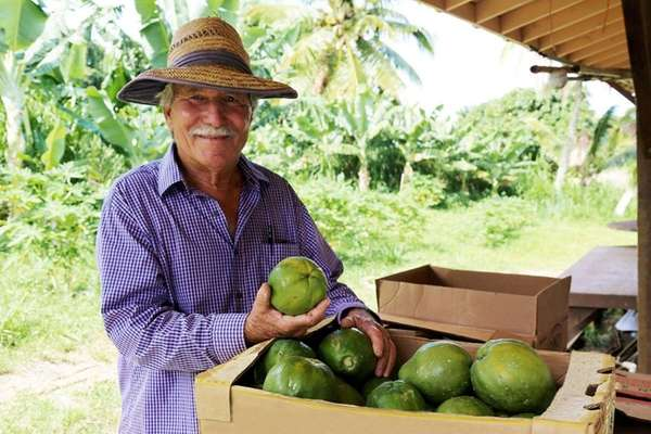 Chuck Boerner of Ono Farms on the island