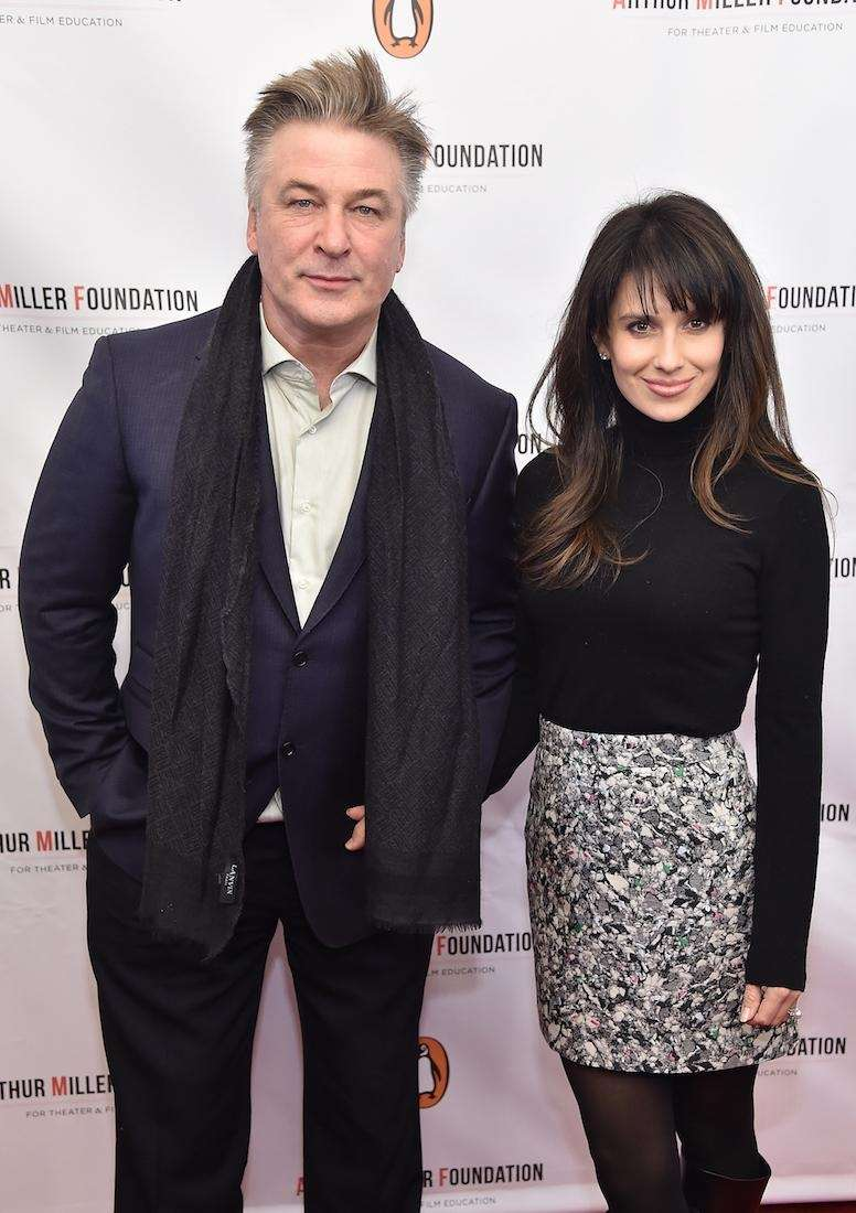 Alec Baldwin and Hilaria Thomas attend Arthur Miller
