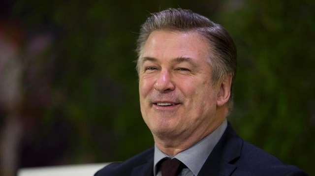 U.S. actor and activist Alec Baldwin smiles during