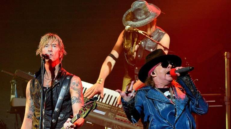 Guns N' Roses, with bassist Duff McKagan and