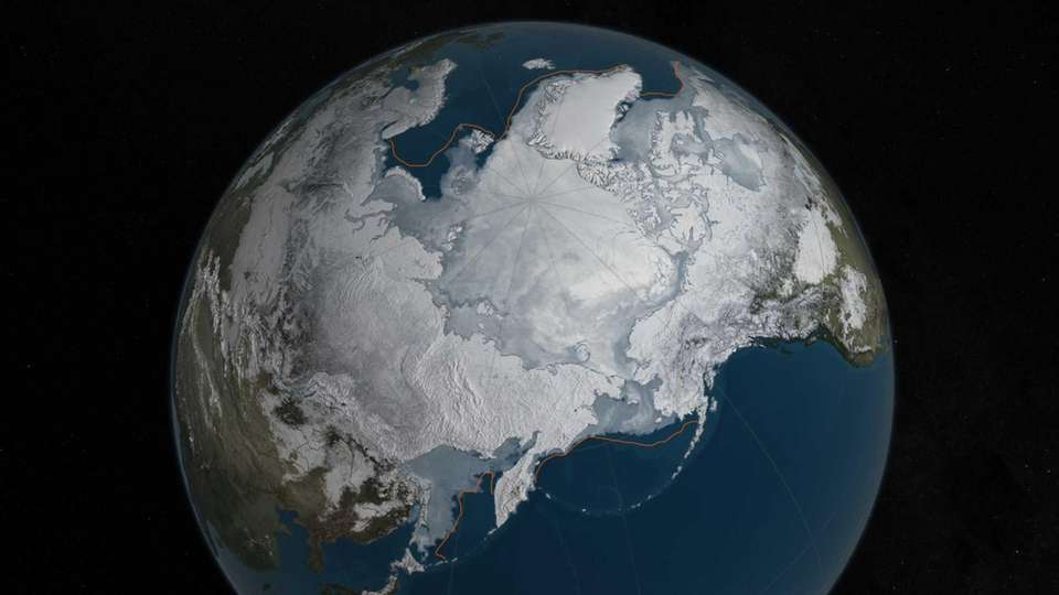 This image provided by NASA shows Arctic sea