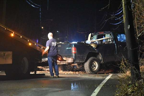 A driver and a passenger fled the scene