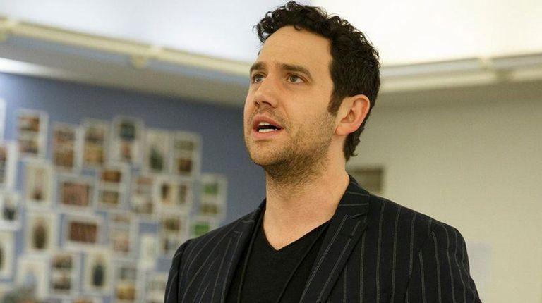 Santino Fontana (John Adams) rehearses the Encores! production