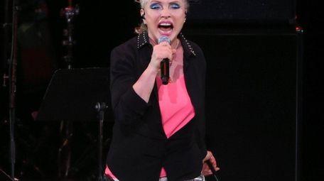Singer Deborah Harry of Blondie performs during