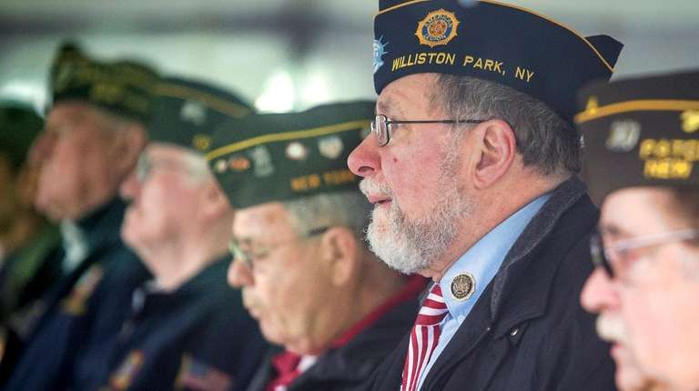 Vietnam veterans and supporters gathered at Long Island