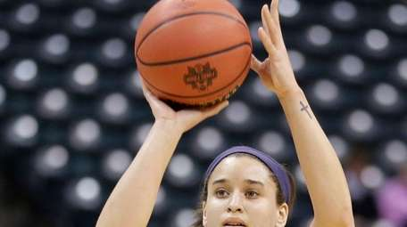 Brianna Butler, here at Final Four practice