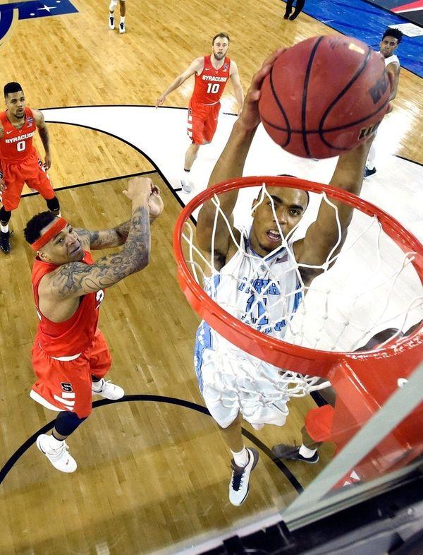 North Carolina's Brice Johnson, who had 16 points