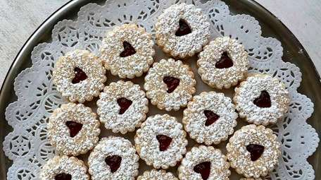 Linzer tart cookies are a specialty at Polka