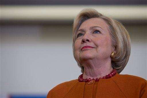 Democratic presidential candidate Hillary Clinton is introduced at