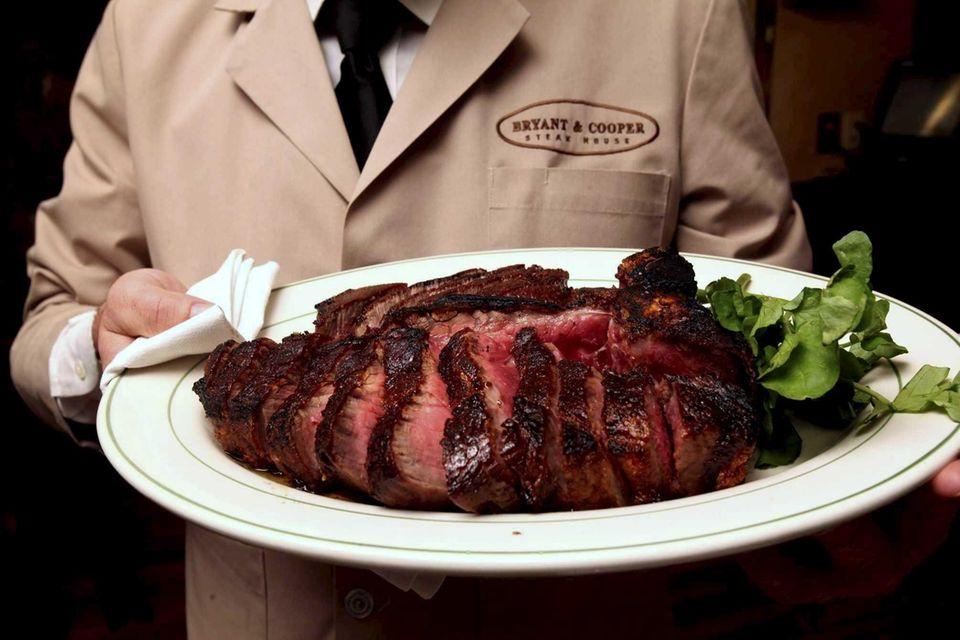 The porterhouse steak at Bryant & Cooper in
