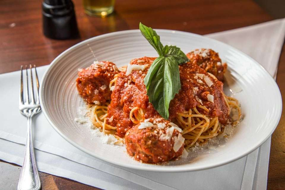Spaghetti and all-beef meatballs is served at Emilio's