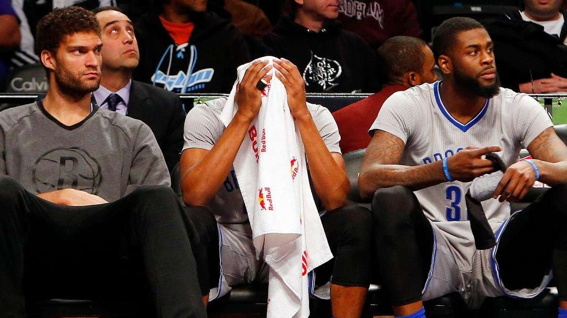 From left, Brook Lopez, Markel Brown and Willie