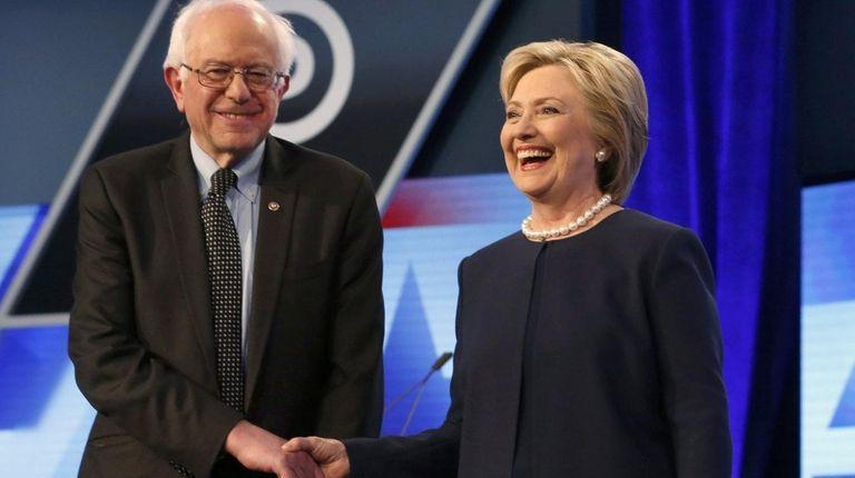 Democratic presidential candidates Hillary Clinton and Sen. Bernie