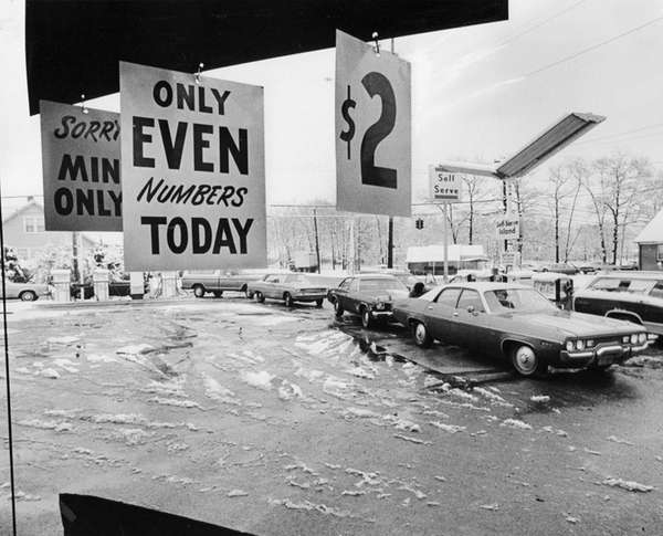 The Twin Gulf gas station at Church and