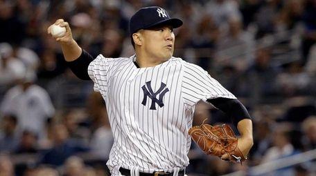 Masahiro Tanaka's start got rained out Monday. He