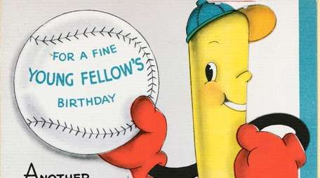 An example of Hallmark's baseball-themed greeting cards from