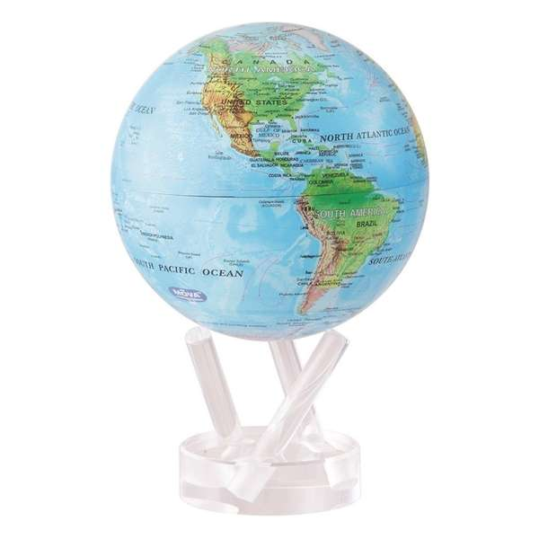 The MOVA globe rotates on its own, without