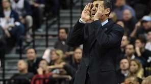 Villanova's Jay Wright calls to his players during
