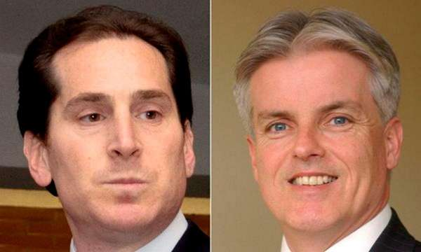 Assemb. Todd Kaminsky, left, and Christopher McGrath, who